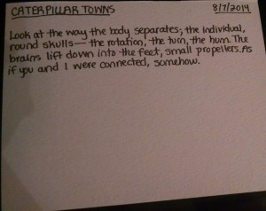 August 2014_Poem 7_Caterpillar Towns