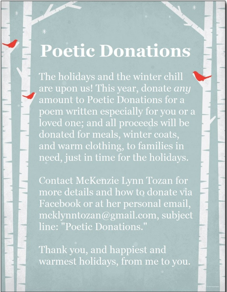 Poetic Donations FLYER